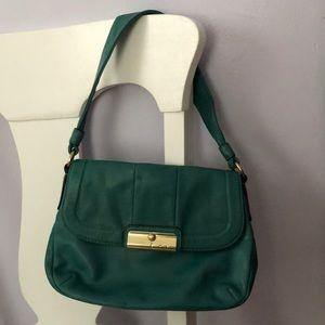 Small Mini Coach Shoulder Bag Clutch Green